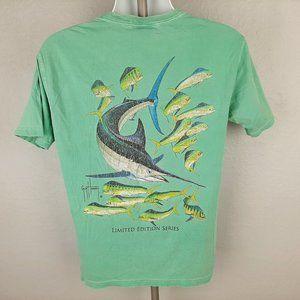 Guy Harvey Vintage Aftco Mens Pocket T-shirt Size